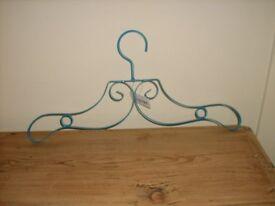 NEW Blue decorative metal hangers