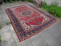 Traditional Vintage Red Persian Oriental Patterned Aztec Rug Carpet Rugs 3m x 2m