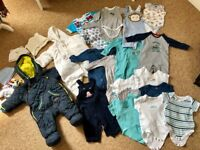 Big bundle of baby boy clothes 3-6 months