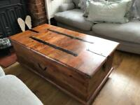 Vintage Mahogany Chest Coffee Table