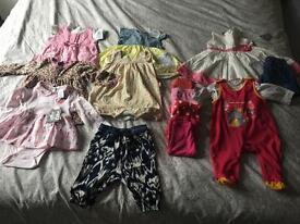 Baby girl clothes bundle 3-6