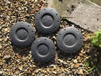 4 centre covers for VW T5 Transporter steel wheels