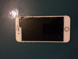 Broken iPhone 6s 32G rose gold