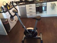 Pro Fitness Space Saver Exercise Bike - Folds for storage with LCD Display Speed, Calories etc. VGC