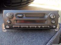 Bmw mini one original radio cassette complete with cd changer
