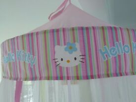 Pink 'Hello Kitty' Canopy and Duvet Cover Set