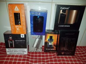 brand new sealed vape stuff no under 18,s various prices listed