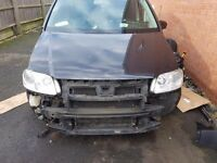 Vw touran tdi breaking/ full black leathers