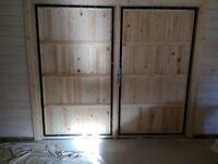Wooden garage doors as new 2.4. Meters wide