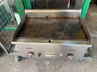 GAS FLAT GRILL CATERING COMMERCIAL KITCHEN FAST FOOD RESTAURANT TAKE AWAY SHOP