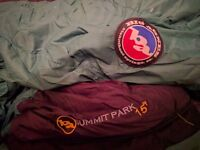 Big Agnes Summit Park 15 XL sleeping bag *as new with Therm-A-Rest Z-Lite mat*