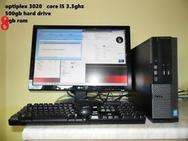 FAST Dell Optiplex 3020 core i5 .. 4th gen. desktop TOWER upgrade