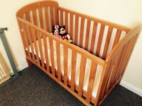 Pine cot for sale baby bed