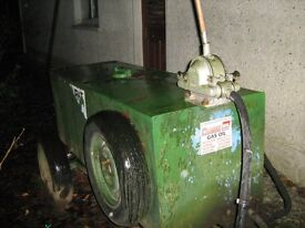 fuel bowser with hand pump