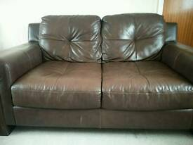 Leather two-seat sofa