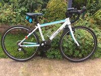 """Frog 67 Team sky children's 9 speed Road bike,,14"""" frame,24"""" wheels/gravel tyres,dual Caliper brakes"""