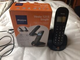 Binatone Vesta 1215 Cordless Telephone Answer Machine Single RRP 19.99