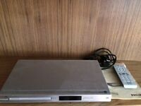 PHILLIPS DVD PLAYER + REMOTE & INSTRUCTIONS