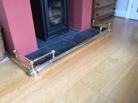 Brass fire / fireplace fender