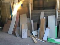 Wood, plasterboards, facial boards