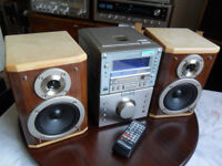 Sharp MD-M3H Midi Hifi- Minidisc Player Recorder & Speakers & Remote