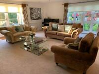 DURESTA 2 Sofas and 1 Armchair Complete Suite. Excellent used condition. Cost £7,000 from John Lewis