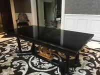 New Bureau Maillot Dining Table, Black Marble RRP £4900