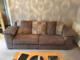 Ashley Manor 4 Seater Sofa - Gillies - Excellent Condition - Pacific Fudge