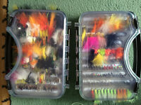 Large clear view fly box's with around 400 flies buzzers wet's & lures + nymphs