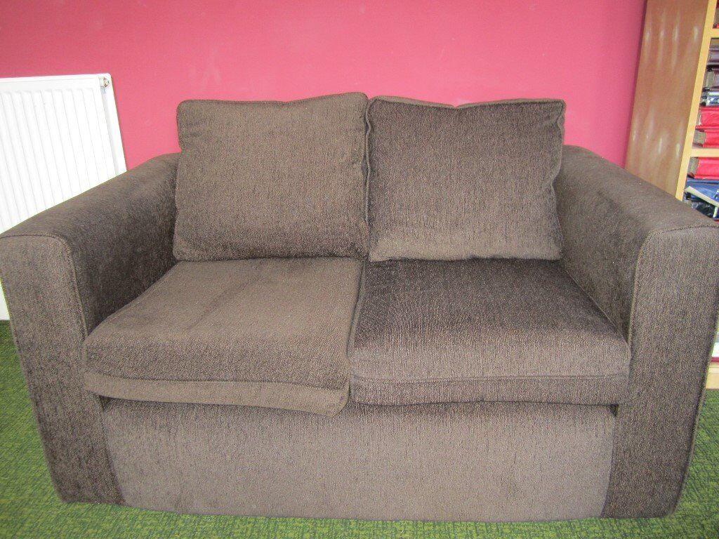 2-seater sofa (brown)