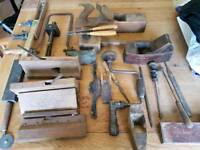 Lovely selection of very old handmade carpentry tools