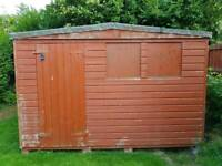 SHED EXCELLENT CONDITION 10' x 8' APEX TONGUE & GROOVE