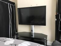 Toshiba Regza 3 D 42 inch TV & table for sale