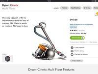 Dyson Cinetic Multi Floor DC54 vacuum cleaner hoover RRP £420