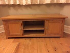 Solid oak television unit