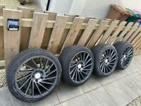 "18"" Kambr Directional alloys and nearly new tyres"