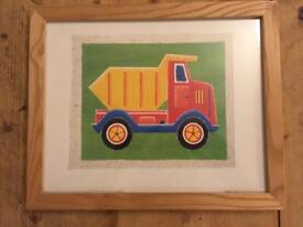 Child's pictures in frames