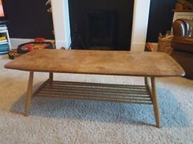 Blond Ercol coffee table
