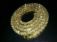 Mens Gold/Silver Diamond Chain