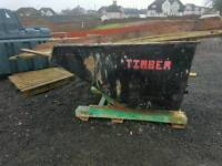 Big Forklift tipping skip ideal for farm stables scrap rubbish building site etc tractor