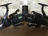 Nash H-GUN FR-5 carp reels x2