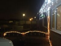 Outdoor Multi Coloured Multi Function Rope Lights - 2 sets