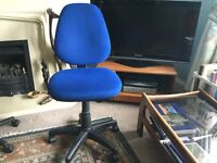 Blue Adjustable Office Chair