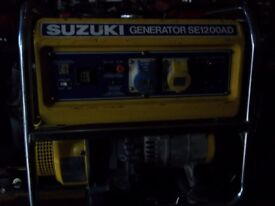 TOP QUALITY SUZUKI SE1200AD 4 STROKE PETROL GENERATOR WITH BUILT IN AVR