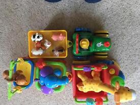 Baby Toys, Animal Train and Farm Trunk