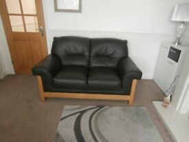 TWO BY TWO SEATER LEATHER SOFAS