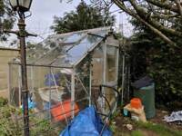 Metal frame greenhouse Free to collect