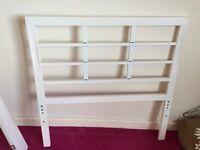 Ikea White Metal Single Bed Frame