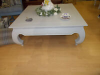 Coffee table elegant grey 110 cm square or 43 inches x 43 inches great condition