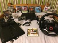 PS3 Super Slim 500GB with Logitech Driving Force GT, 2 Controllers and 11 Games
